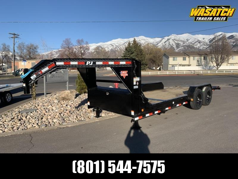 2021 PJ 20' Gooseneck - 6 in. Channel Equipment Tilt (T6)
