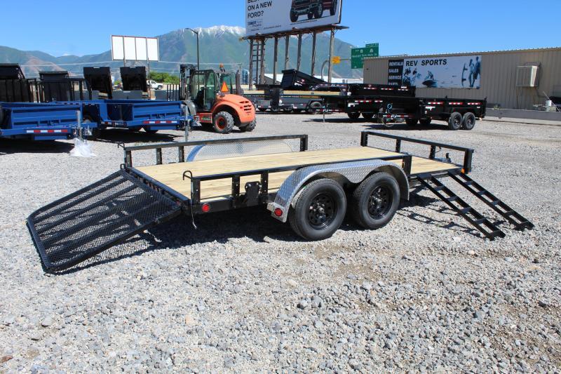 PJ Trailers 83x14 Tandem Axle Channel (UL) Utility Trailer