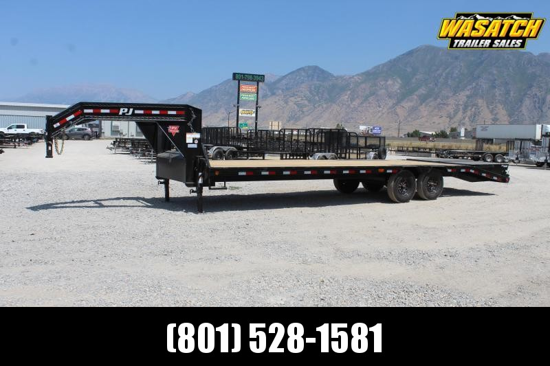 PJ Trailers 85x25 Low-Pro Flatdeck With Singles (LS) Flatbed Trailer