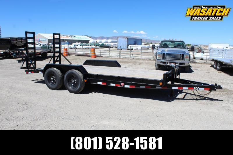 "PJ Trailers 7x18 6"" Channel Equipment (CC) Car / Racing Trailer"