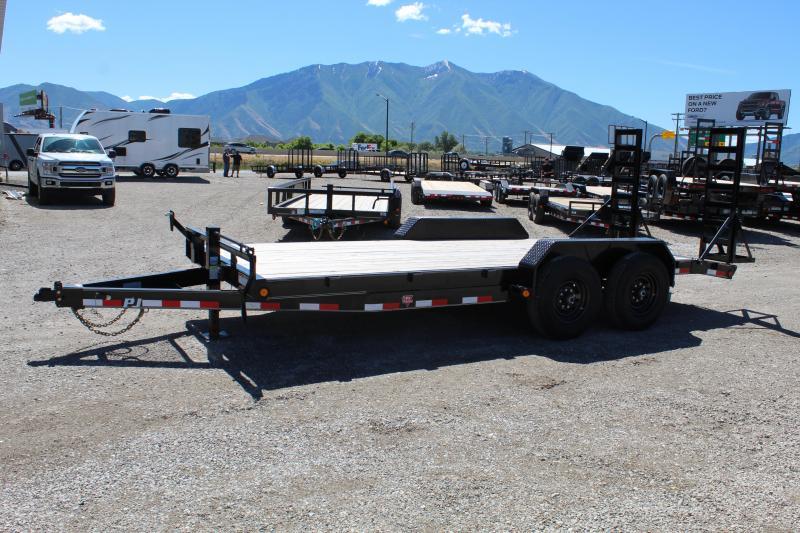 "PJ Trailers 7x18 6"" Channel Equipment (CC) Car / Racing Trailer"