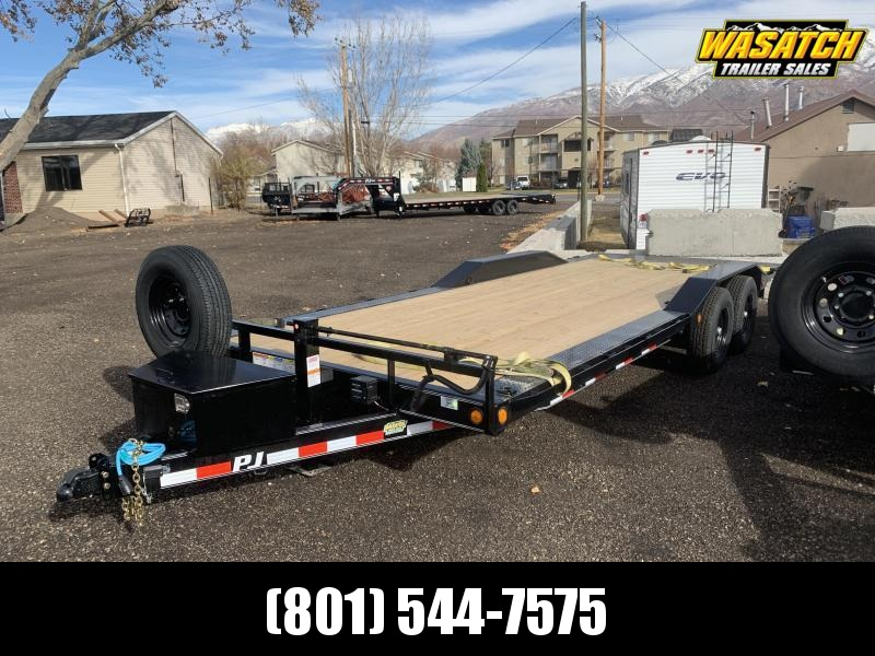 PJ 22' - 6 in. Channel Super-Wide (B6) Car / Racing Trailer