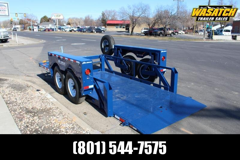Air Tow Rental 14 Ground-Level Loading Flatbed Trailer