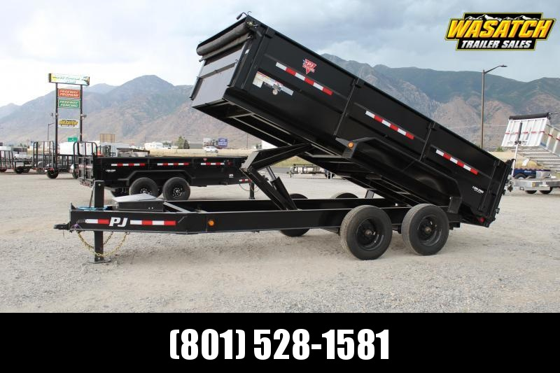 2021 PJ Trailers 7x16 HD Low-Pro Dump (DE) Dump Trailer