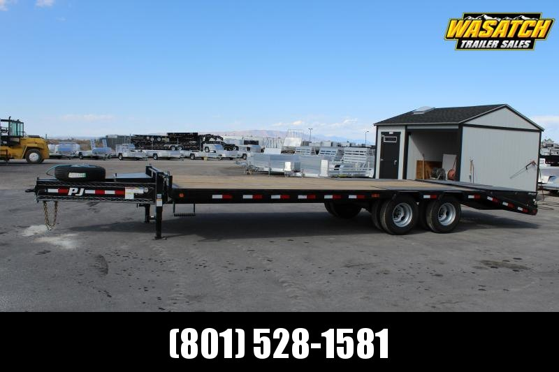 PJ Trailers 85x25 Low-Pro Pintle With Duals (PL) Flatbed Trailer