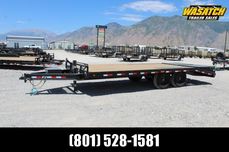 "PJ Trailers 85x20 8"" I-Beam Deckover (F8) Equipment Trailer"