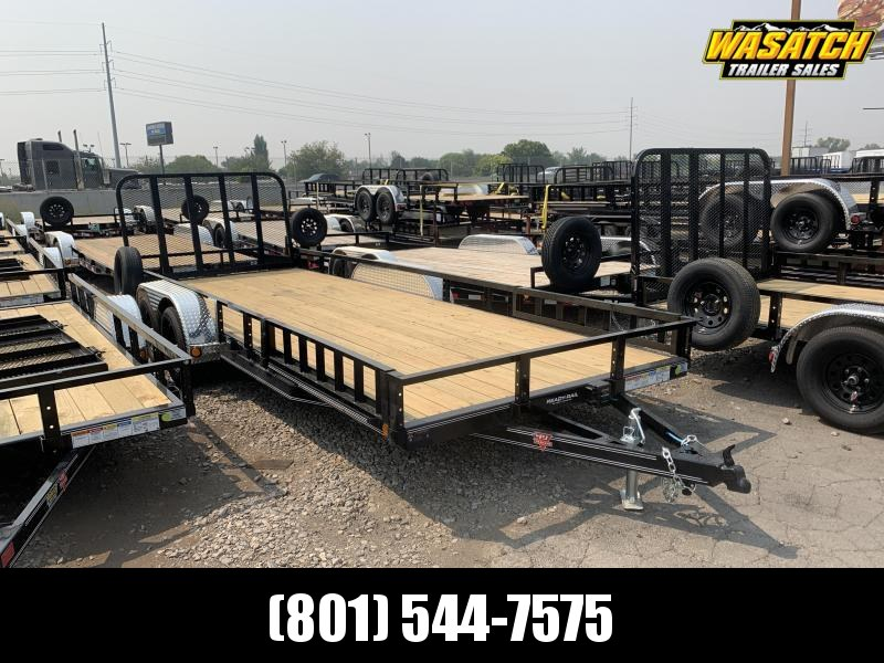 PJ 7x20 Tandem Axle Channel Utility (UL) w/ ATV Ramps