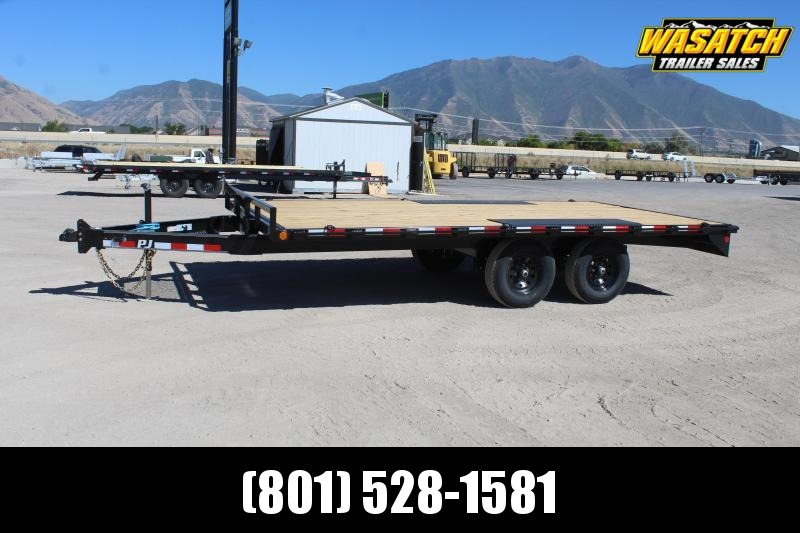 "PJ Trailers 85x16 Medium Duty Deckover 6"" Channel (L6) Flatbed Trailer"