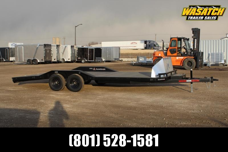 RawMaxx 85x22 Fancy Car Hauler Flatbed Trailer