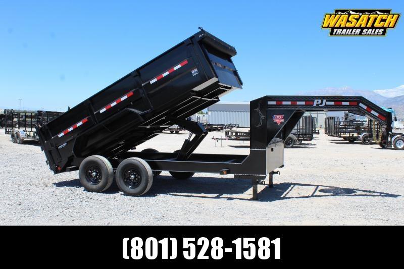 "PJ Trailers 7x14 83"" Low-Pro High Side Dump (DM) Dump Trailer"
