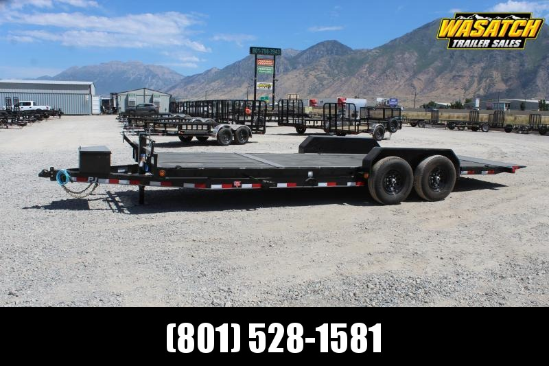 "***PJ Trailers 7x22 6"" Channel Tilt (T6) Equipment Trailer***"