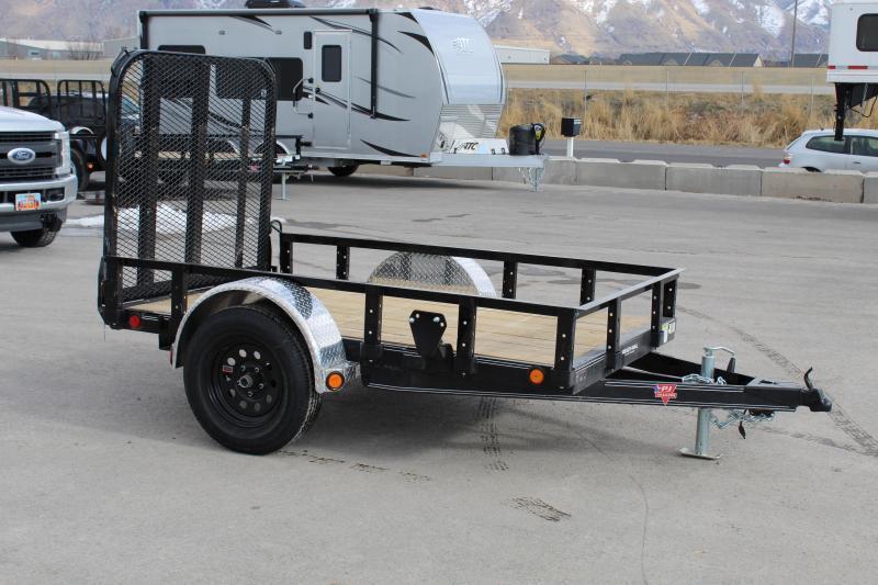 "PJ Trailers 5x10 60"" Single Axle Channel (U6) Utility Trailer"