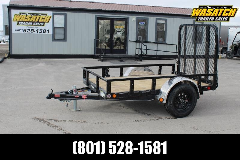 "PJ Trailers 5x10 60"" Single Axle Channel (U6) Utility Trailer"