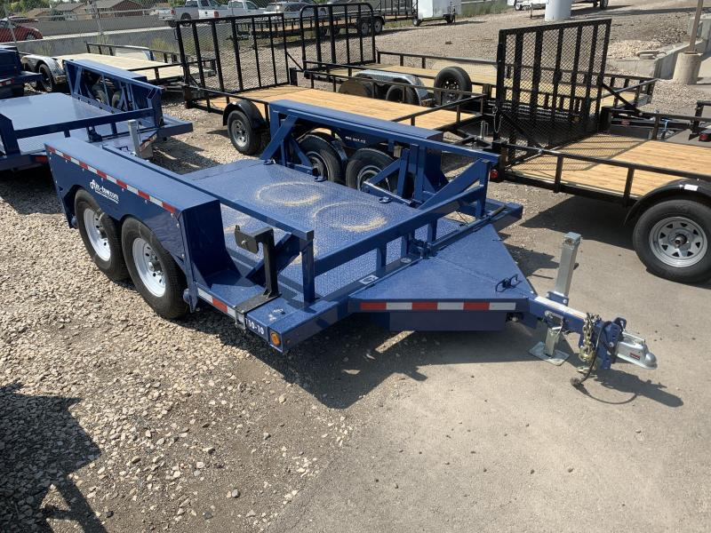 Air Tow 10' Ground-Level Loading Flatbed Trailer