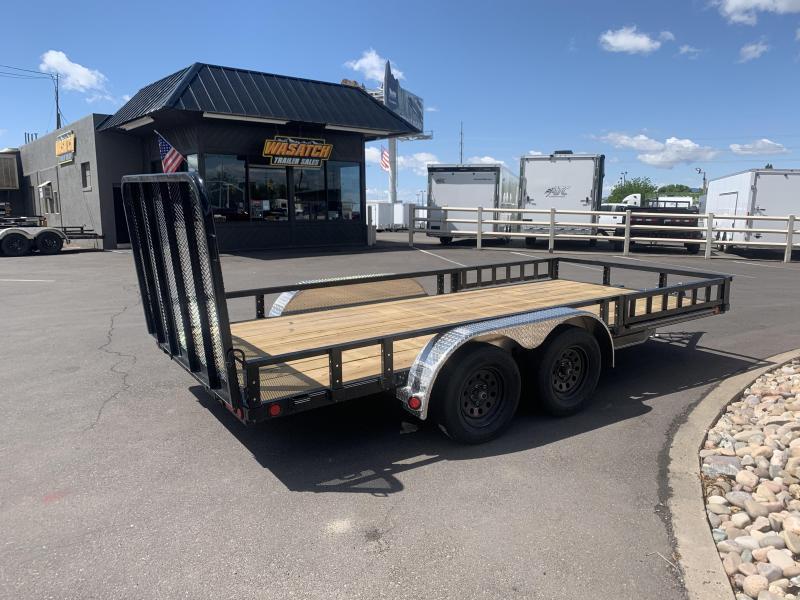 PJ 7x14 Tandem Axle Channel Utility (UL) w/ ATV Ramps