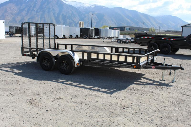 ***PJ Trailers 7x16 Tandem Axle Channel (UL) Utility Trailer***