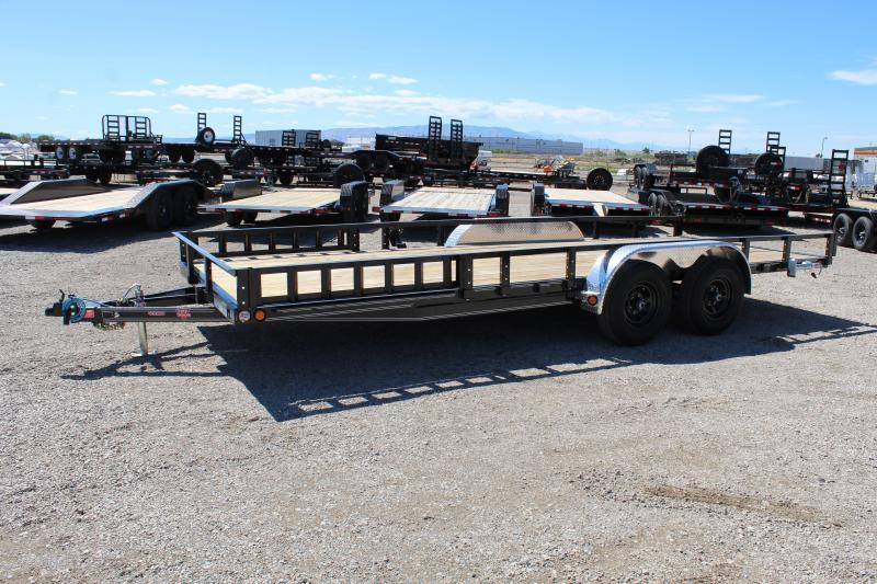 PJ Trailers 7x22 Tandem Axle Channel (UL) Utility Trailer