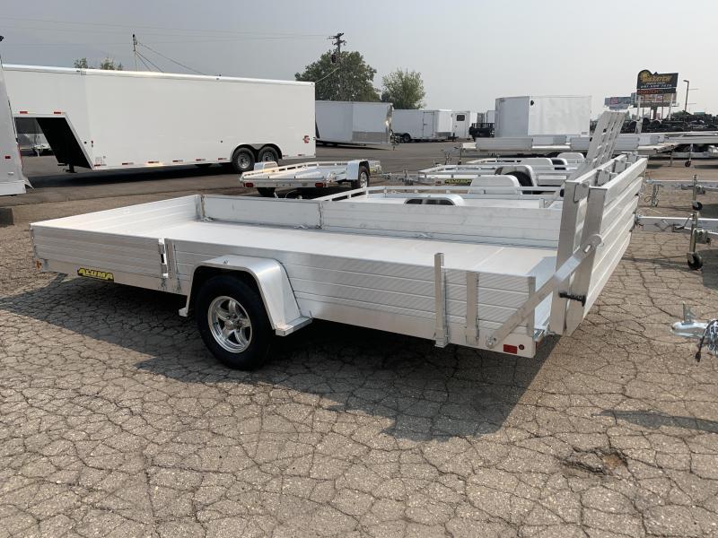 "Aluma 6'8"" x15 (8115 SR) Aluminum Utility w/ BiFold Gate"