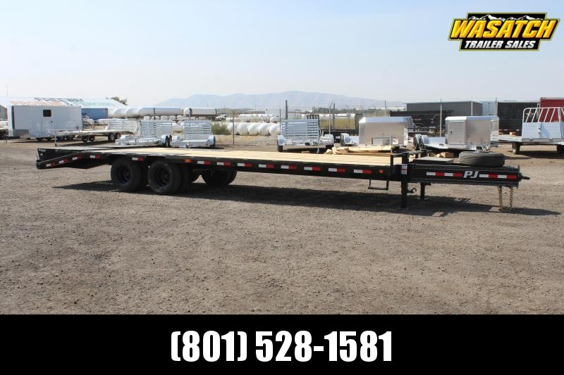 PJ Trailers 85x28 Low-Pro Pintle With Duals (PL) Flatbed Trailer