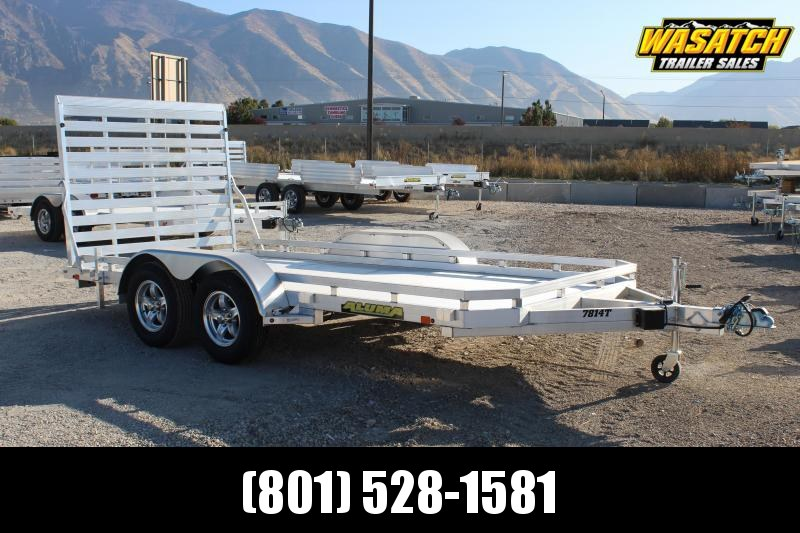 Aluma 7814 Tandem Aluminum Utility Trailer