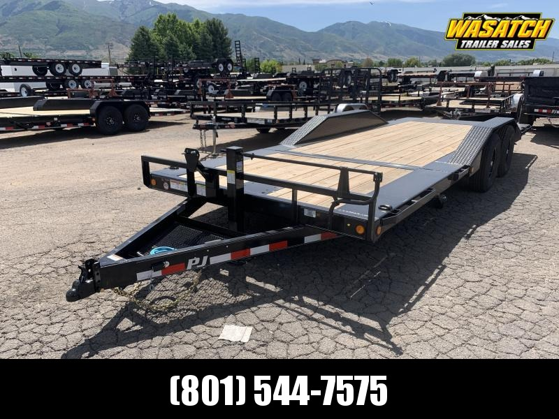 "PJ 22' - 6"" Channel Super-Wide Tilt (TS) Equipment Trailer"