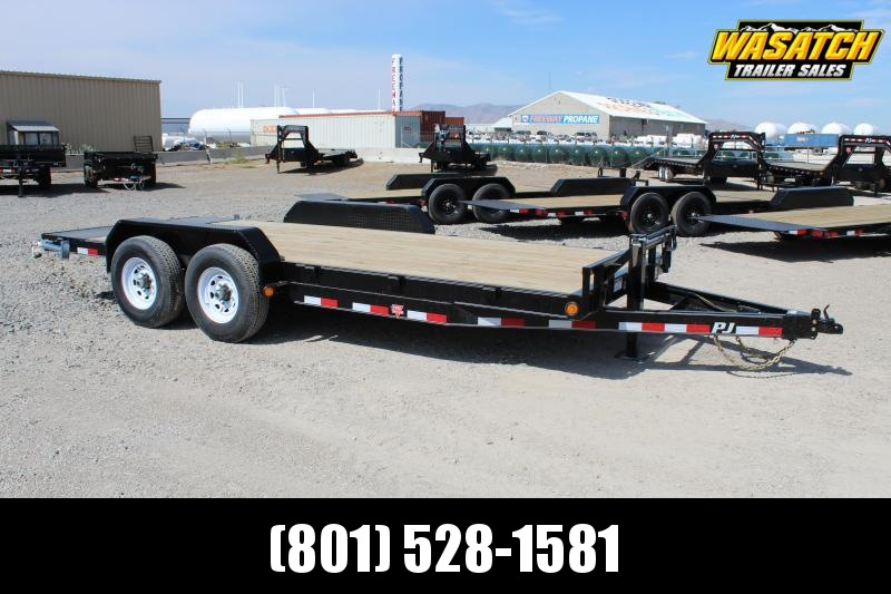 "PJ Trailers 7x22 6"" Channel Equipment (CC) Equipment Trailer"