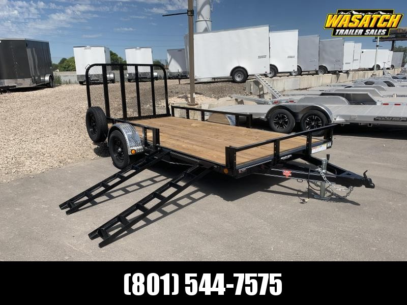 PJ 7x14 Single Axle Channel (U8) Utility Trailer