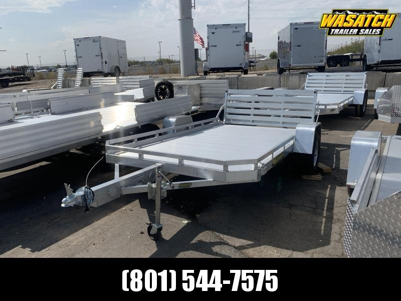 Aluma - 7712H - 6.5x12 - Bi-Fold Gate - Aluminum - Utility Trailer