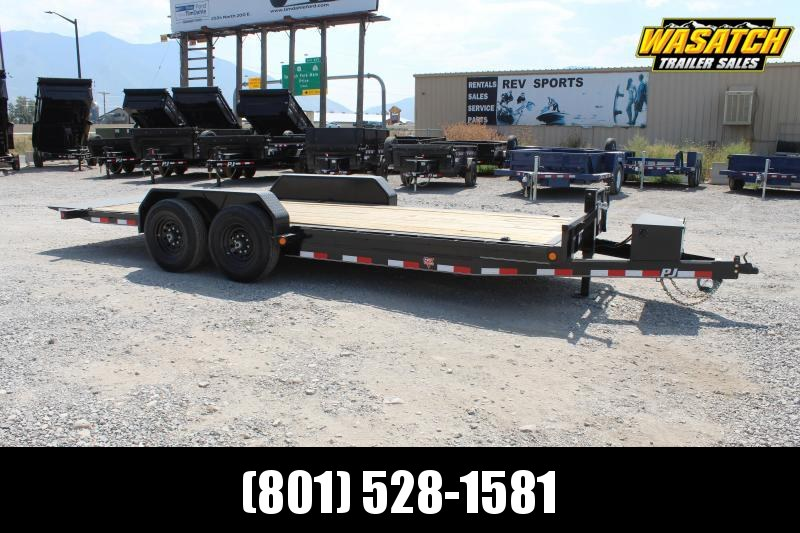 PJ Trailers 7x20 Powered Full Tilt (TF) Equipment Trailer