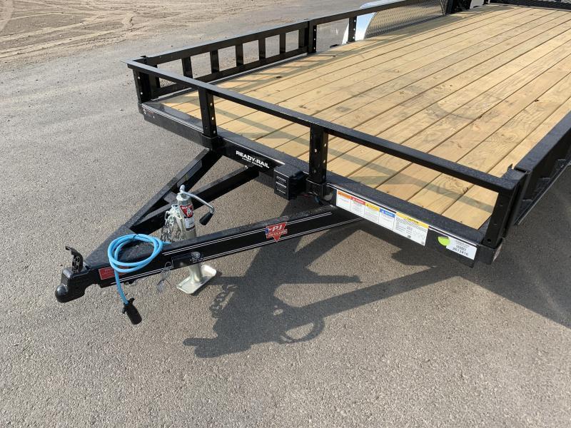 PJ 7x18 Tandem Channel Utility (UL) w/ ATV Ramps