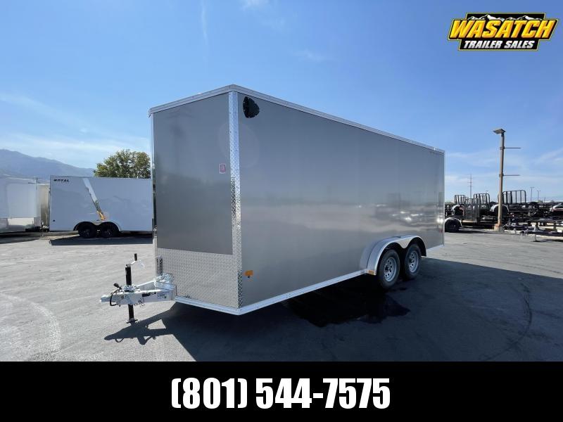 Alcom-Stealth - 7.5x18 - Tandem 3.5k - Ramp - Aluminum - Enclosed Cargo Trailer