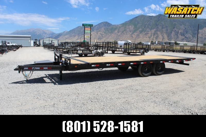 PJ Trailers 85x24 Deckover Tilt (T8) Equipment Trailer