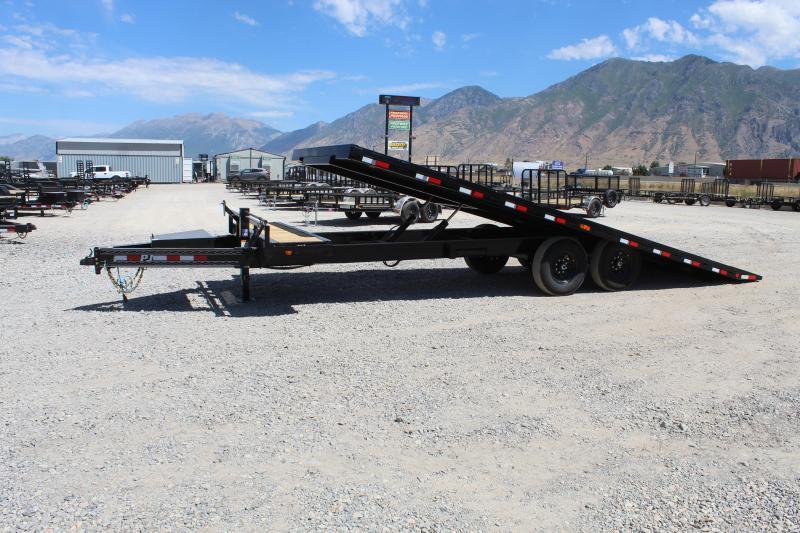 PJ Trailers 85x24 Deckover Tilt (T8) Equipment Trailer