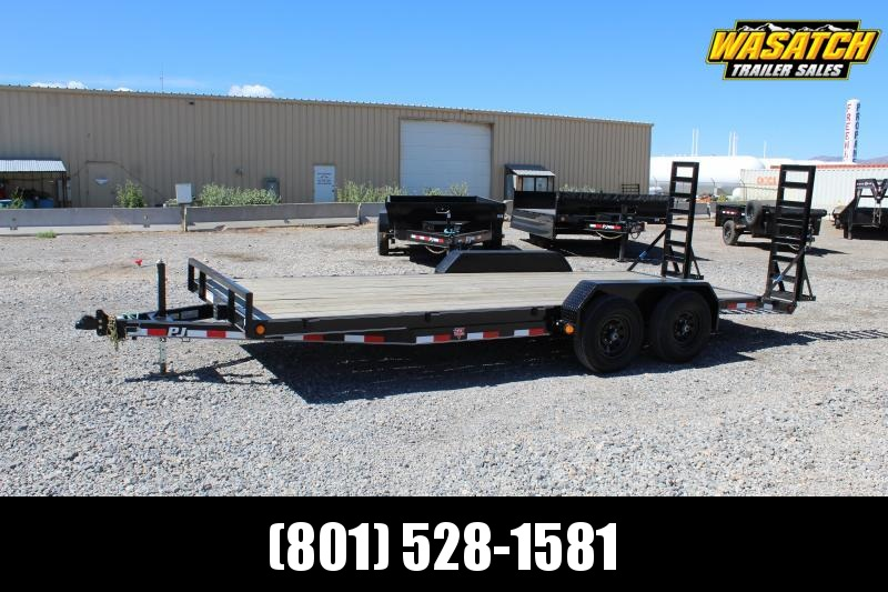 "PJ Trailers 7x20 5"" Channel Carhauler (CE) Equipment Trailer"