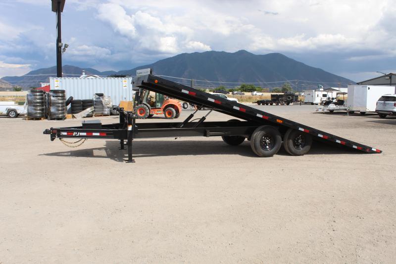 PJ Trailers 85x22 Deckover Tilt (T8) Equipment Trailer
