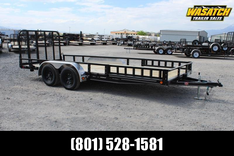 "PJ Trailers 7x18 83"" Tandem Axle Channel (UL) Utility Trailer"