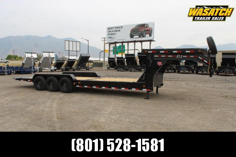 "PJ Trailers 7x26 HD Equipment Tilt 8"" Channel (TK) Equipment Trailer"