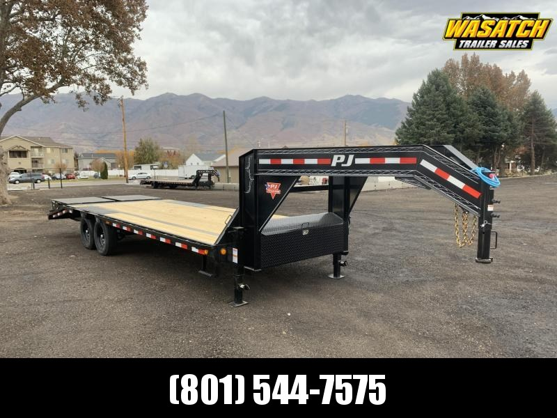 PJ 25' - Flatdeck w/ Singles (LS) Flatbed / Equipment Trailer