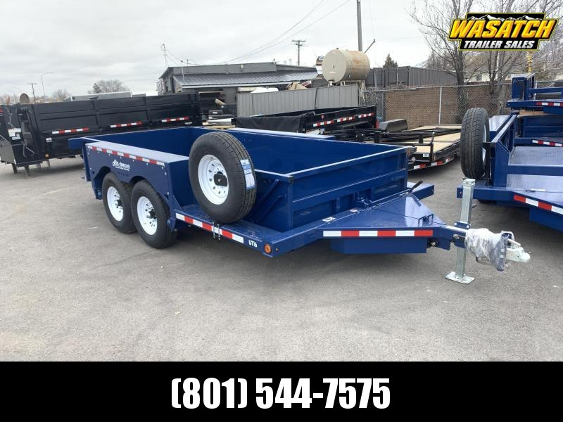 Air Tow UT16-9 Ground-Level Loading Tandem Axle  Utility Trailer