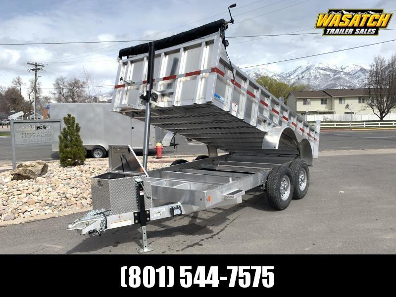CargoPro 7x14 Aluminum Dump w/ 2' Sides