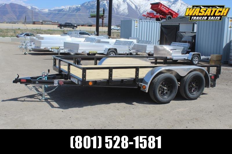 "PJ Trailers 7x12 83"" Tandem Axle Channel Utility (UL) Utility Trailer"