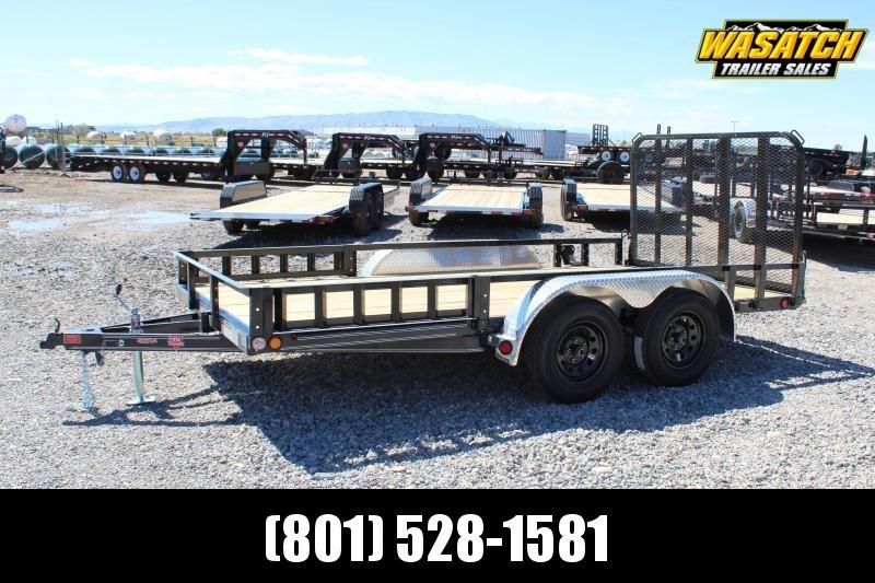 "PJ Trailers 7x14 83"" Tandem Axle Channel Utility (UL) Utility Trailer"