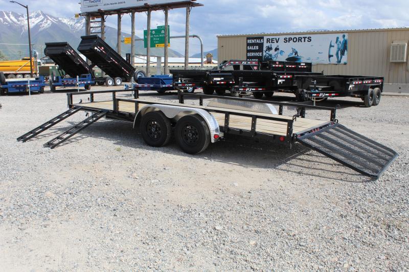 PJ Trailers 7x18 Tandem Axle Channel (UL) Utility Trailer