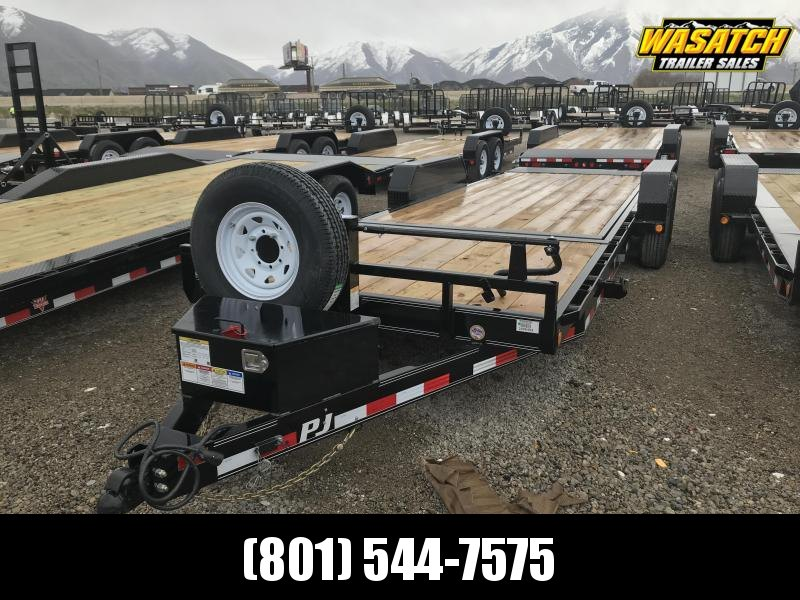 2019 PJ Trailers 22ft - 6 in. Channel Equipment Tilt (T6) Equipment Trailer