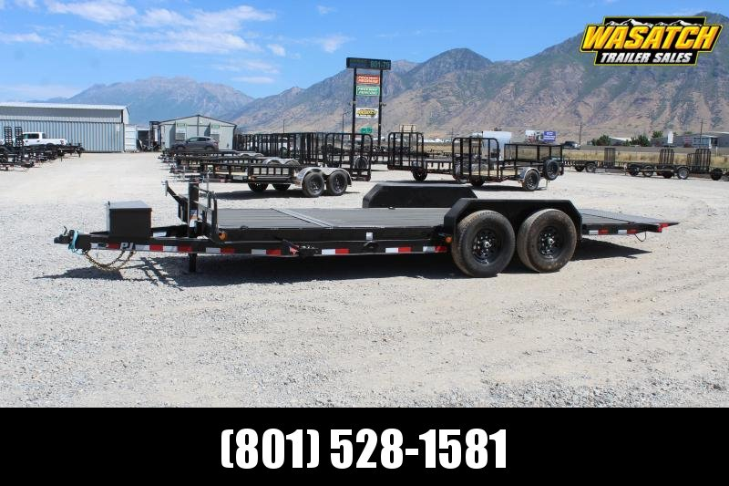 "***PJ Trailers 7x20 6"" Channel Tilt (T6) Equipment Trailer***"