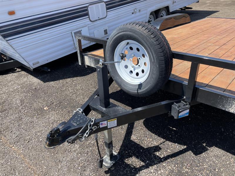 USED - Big Bubba 16' Equipment Utility Flatbed Trailer
