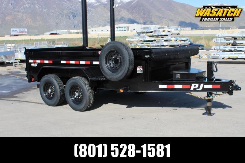 """PJ Trailers 7x14 83"""" Low-Pro Dump (DL) Dump Trailer"""