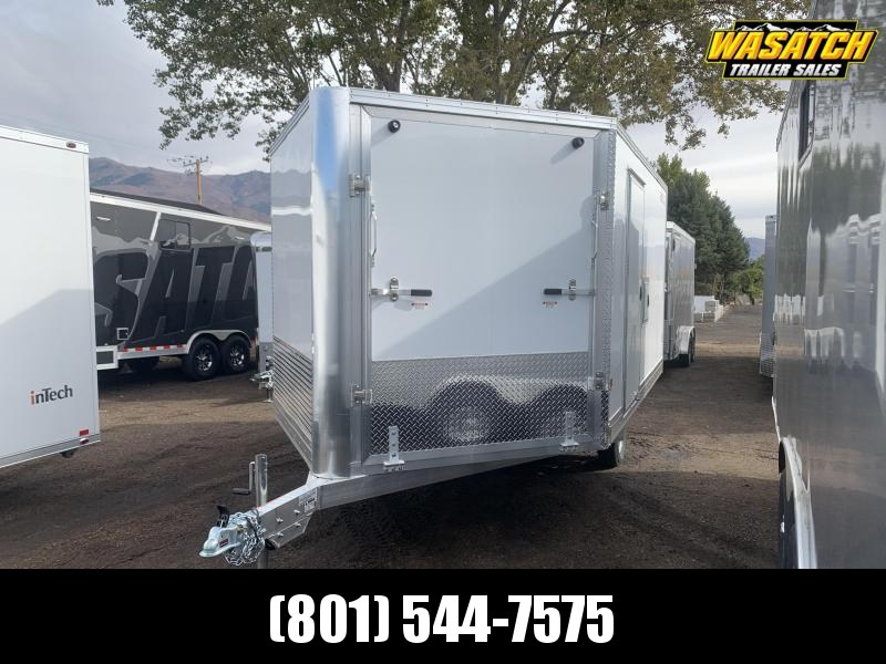 2021 Snopro 12' Deckover Aluminum Enclosed Snowmobile Trailer