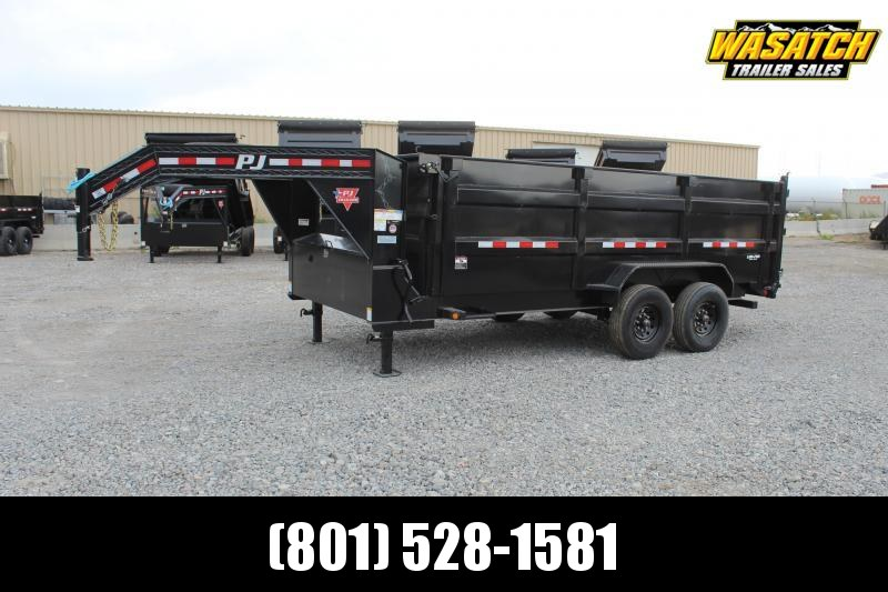 PJ Trailers 7x14 Low-Pro High Side Dump (DM) Dump Trailer