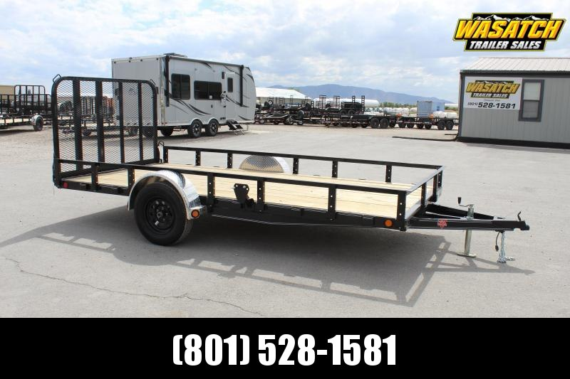 PJ Trailers 7x12 Single Axle Channel (U8) Utility Trailer